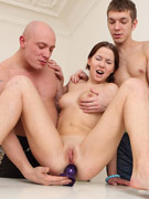 She just loves getting her juicy pussy double penetrated.