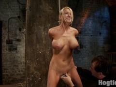 Nude girl punished hard