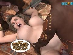Animated cartoon black huge tits pussy white guy porn