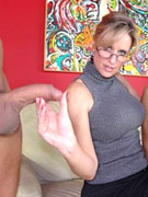 Big boobed ladies adore giving handjobs and sticky