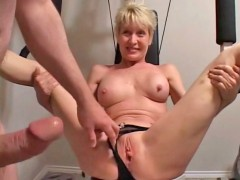 Older milf takes cock in all holes