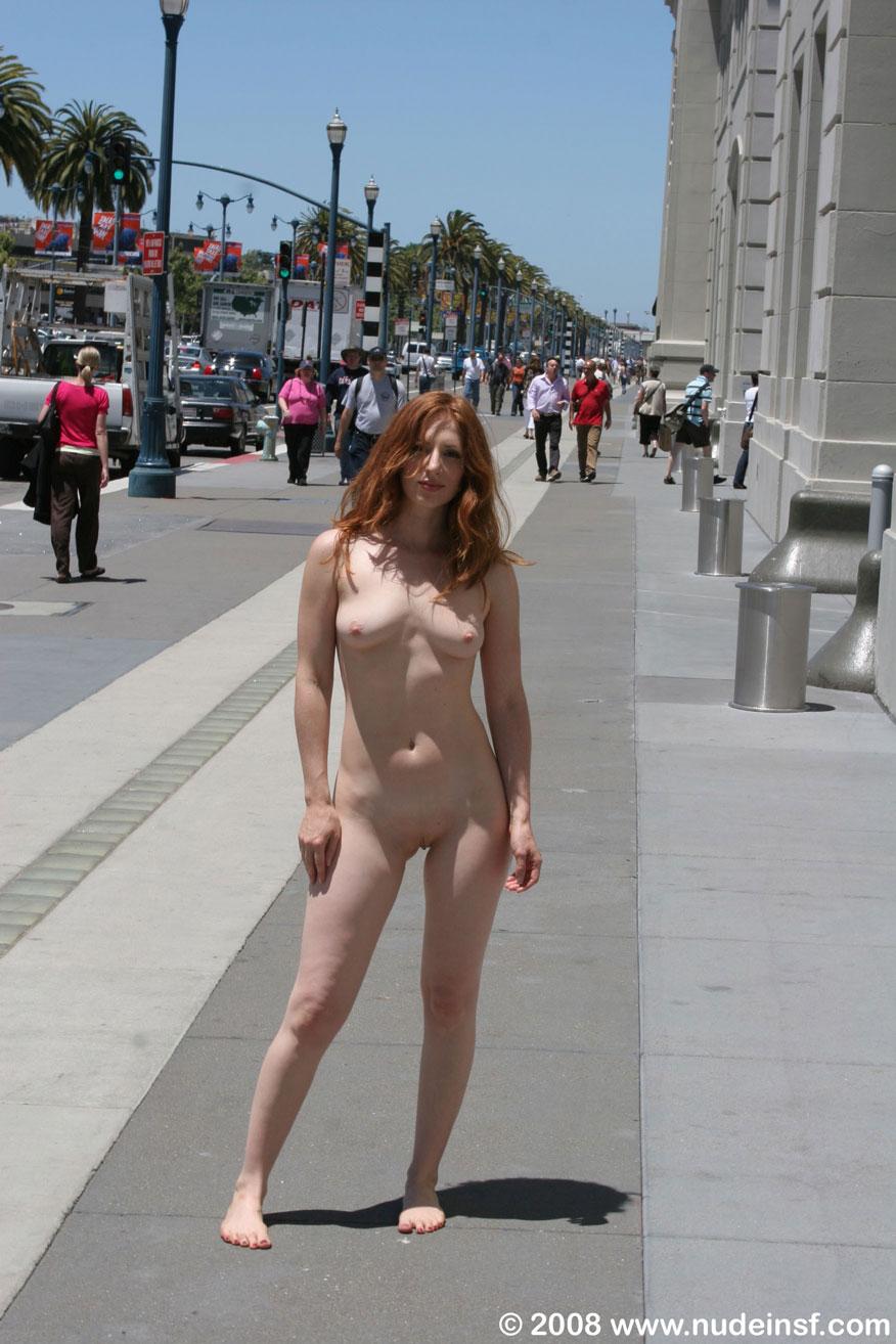 Nude in public 100