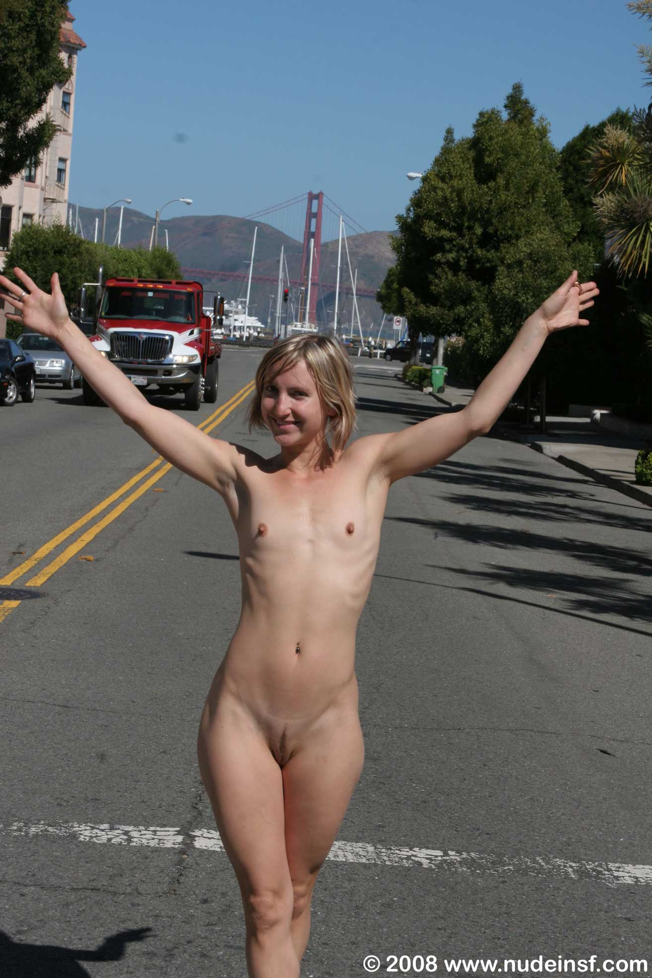 Young girl candid naked