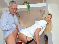 Bent over stockings pregnant