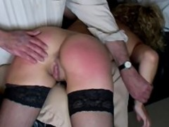 Spanked humiliated asshole squirm